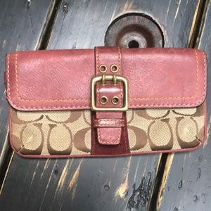Coach Signature Wallet with Leather Accents